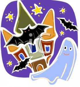 Haunted clipart gost Around Bats of Haunted Around