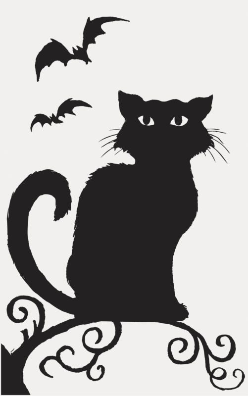Haunted clipart halloween cat Witches Skeletons Halloween Party Silhouette