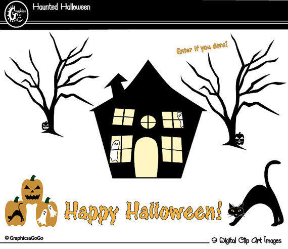 Haunted clipart halloween cat Cat Haunted Clip Download Clipart
