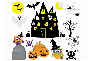 Haunted clipart halloween character House Templates Haunted art clip