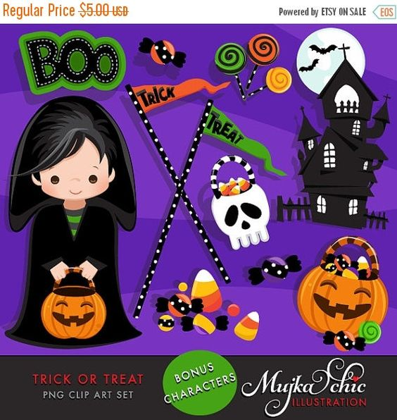 Haunted clipart halloween character Halloween or costumes houses lollipops