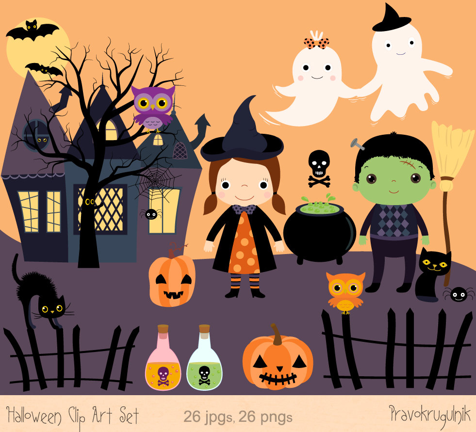 Haunted clipart halloween character Art Witch clip Haunted Images