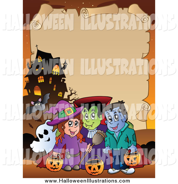 Haunted clipart halloween character With of Characters Background Mansion