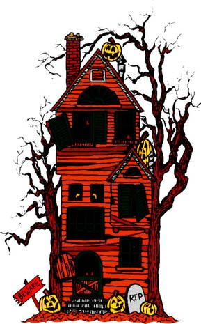Haunted clipart halloween character Clipart on House Houses Halloween