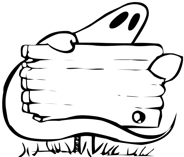 Spooky clipart black and white Halloween art Floating Public Free