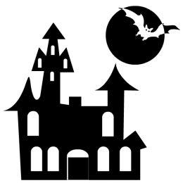 Windows clipart haunted house Art Clip haunted Black house