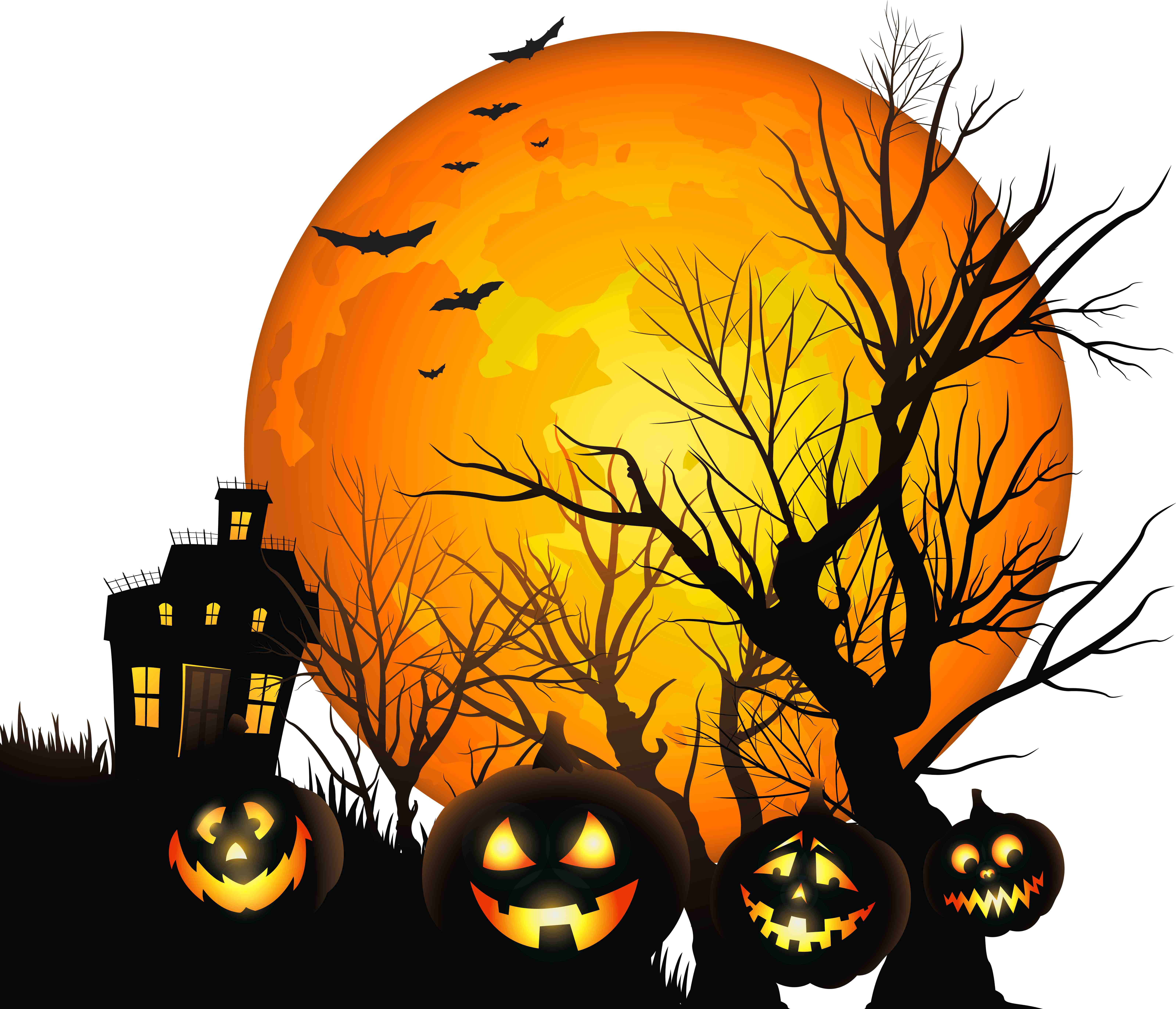 Haunted clipart halloween full moon Tablet) Phone Halloween wallpapers Halloween