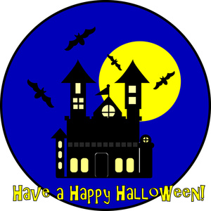 Haunted clipart halloween full moon Panda Clipart Images Full Moon