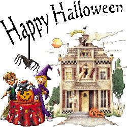 Haunted clipart halloween scene Gifs Halloween Animated Clipart halloween