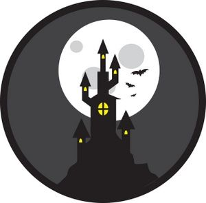 Haunted clipart halloween scene Scene of Halloween a of