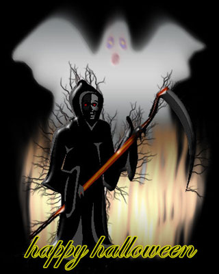 Haunted clipart happy ghost Free ghosts grim Reaper and