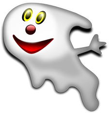 Ghost Clipart Vector happy A