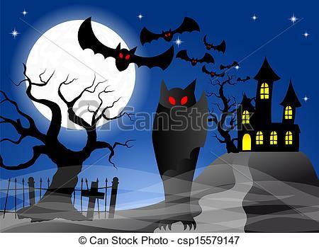 Haunted clipart haunted castle Castle Vector castle illustration of