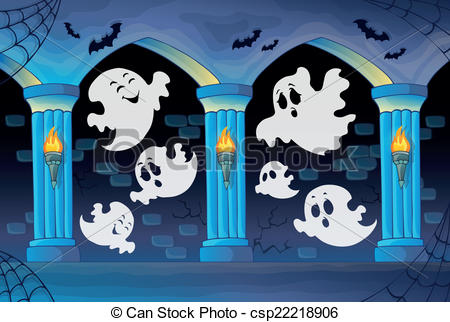 Haunted clipart haunted castle Of Clip castle background eps10
