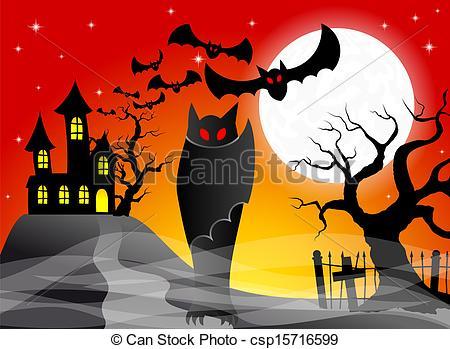 Haunted clipart haunted castle Castle Vectors castle illustration of
