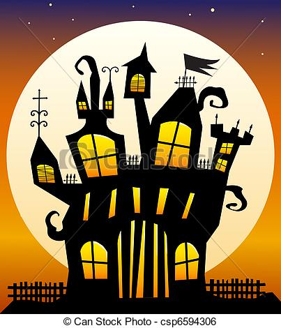 Haunted clipart haunted castle Spooky Castle Castle Bats of