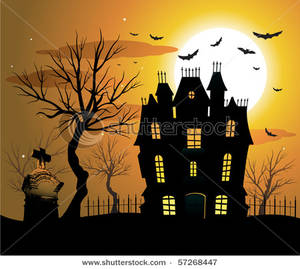 Haunted clipart haunted castle Clip a Over a Over