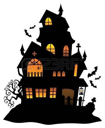 Haunted clipart haunted castle Clipart clipart cartoon Haunted castle