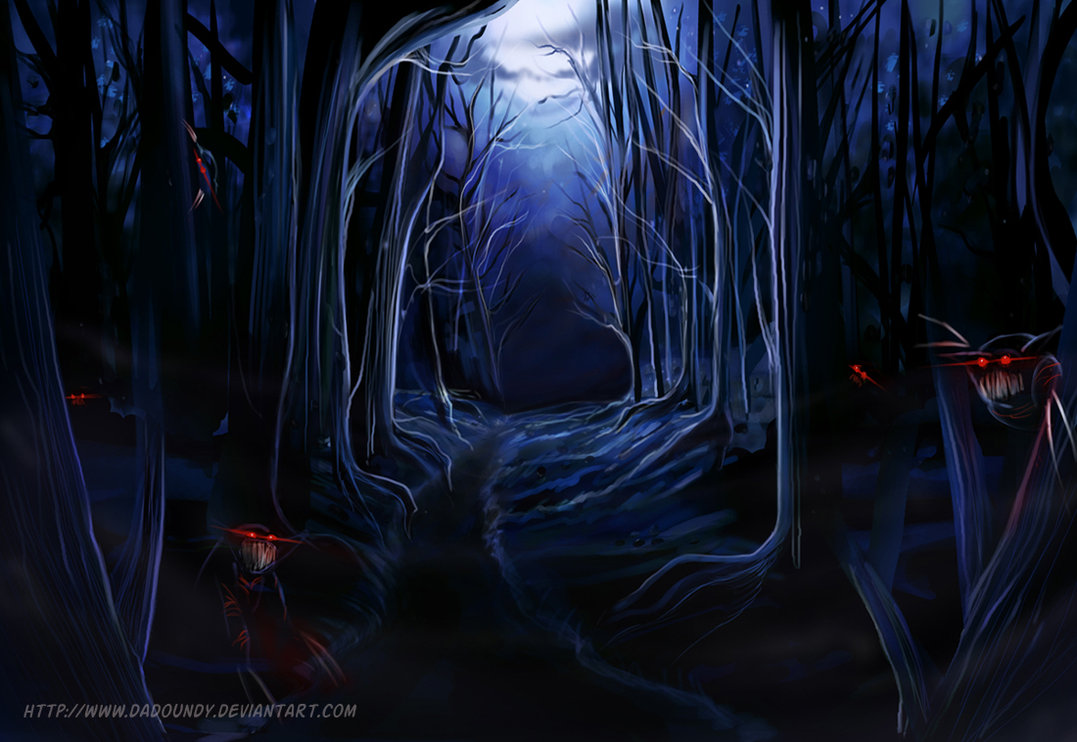 Haunted clipart haunted forest #14