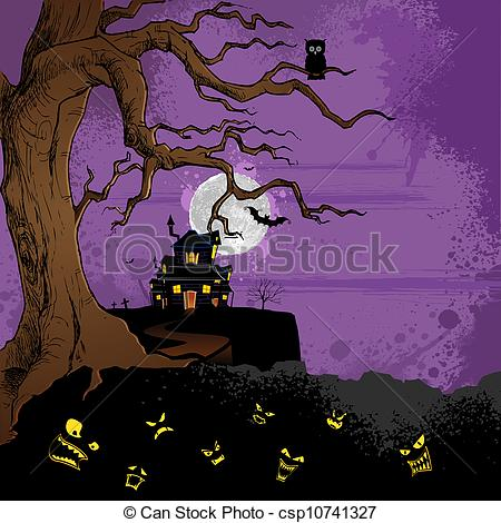 Haunted clipart haunted forest #5