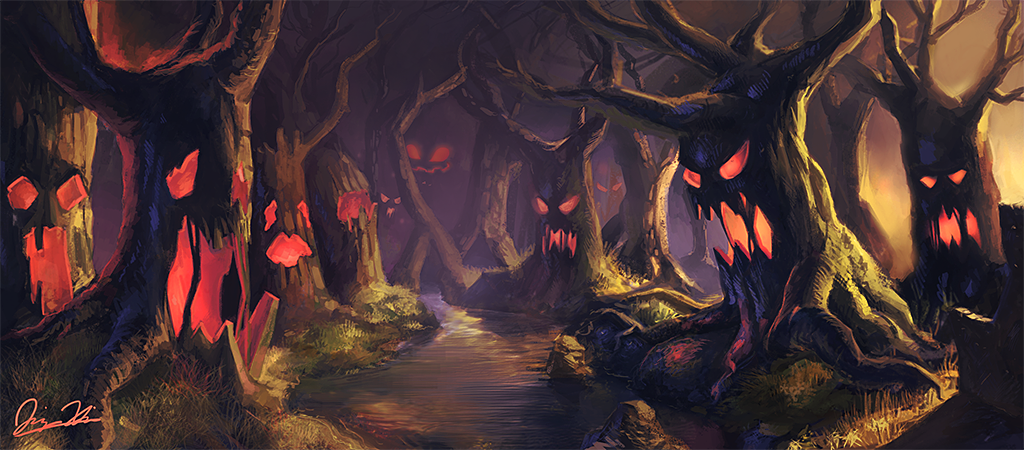Haunted clipart haunted forest #8