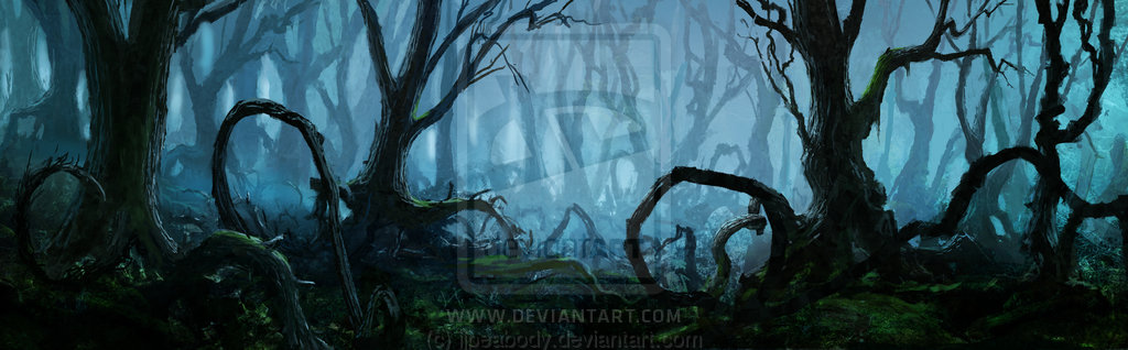 Haunted clipart haunted forest #15