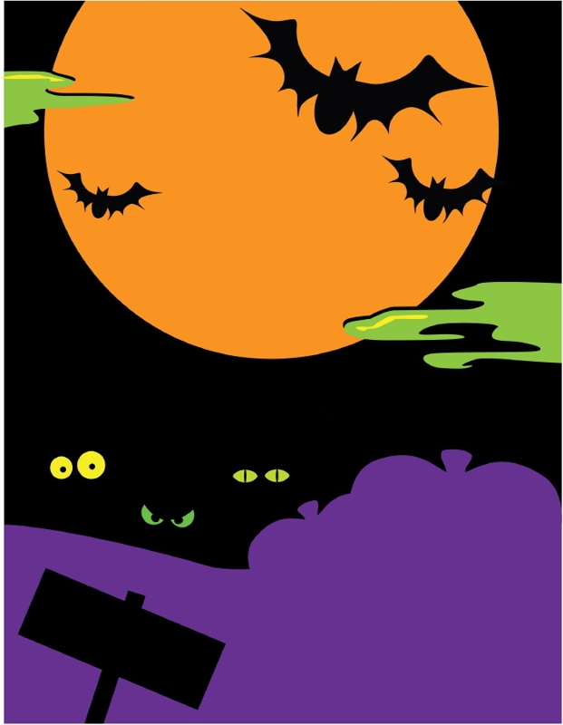 Haunted clipart haunted forest #12