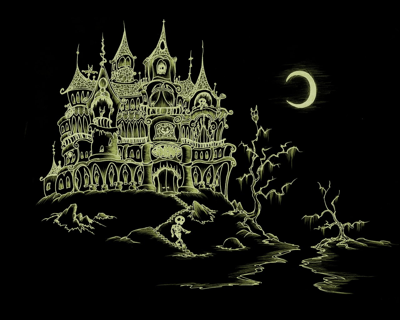 Haunted clipart haunted forest #10