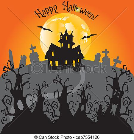 Haunted clipart haunted forest #2