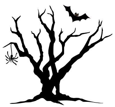 Haunted clipart haunted forest #1