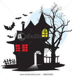 Haunted clipart haunted hayride Illustration image house haunted art