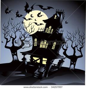 Haunted clipart haunted hayride On Flying a Halloween Bats