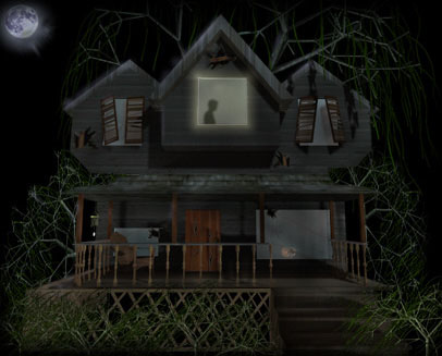 Spooky clipart witch house House Halloween Haunted Free Clipart