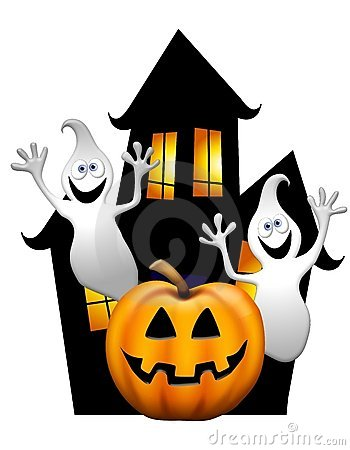 Ghostly clipart haunted Top House Art 25 Clip
