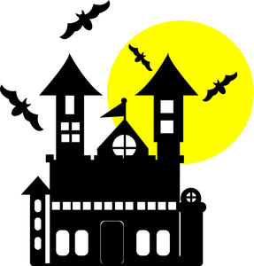 Haunted clipart haunted mansion Whimsical House cliparts Haunted Clipart