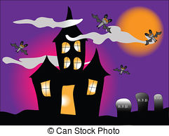 Haunted clipart hause   with house Haunted