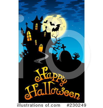 Haunted clipart hause Royalty Illustration by #230249 Illustration