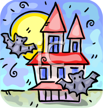 Haunted clipart hause Haunted Black Haunted  house