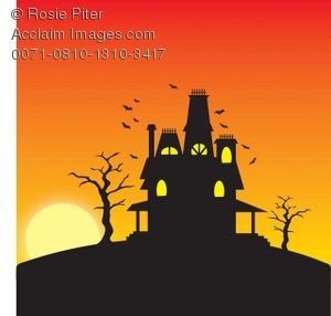Haunted clipart hause Clipart with Halloween with Haunted