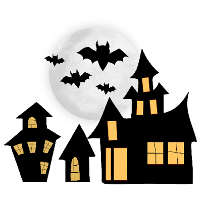 Haunted clipart hause Haunted house 2  black