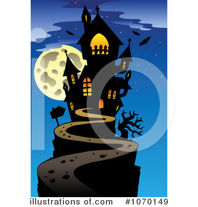 Haunted clipart hause Royalty Illustration by #1070149 Illustration