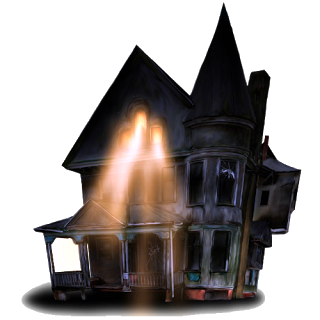 Haunted clipart hause Haunted Haunted Cartoon House Art