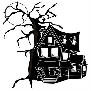 Mansion clipart creepy house  for 57 Treasure about