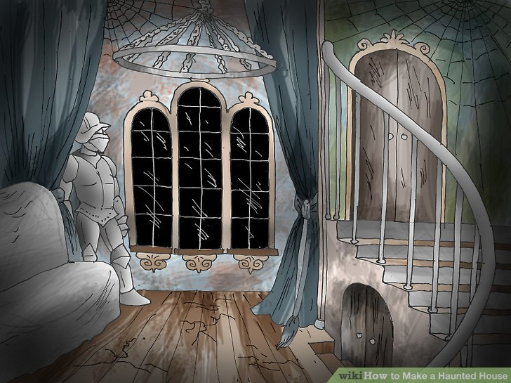 Drawn haunted house haus Step to Haunted a wikiHow