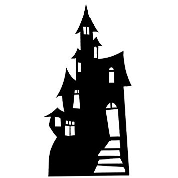 Haunted clipart kitchen Haunted Standee House Cardboard (Silhouette)