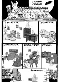 Haunted clipart kitchen House B) House Gap Ghosts