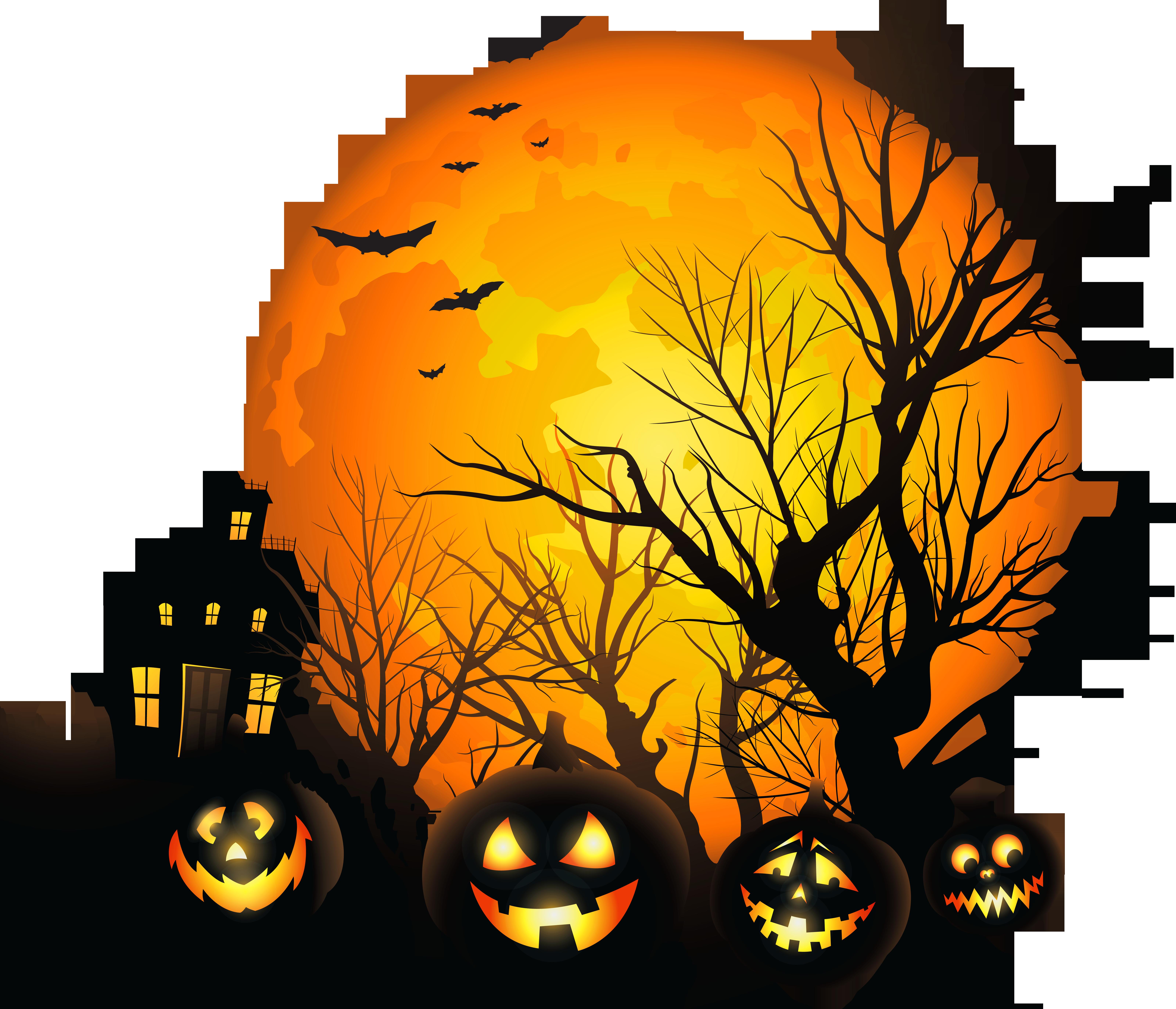 Haunted clipart moon #12