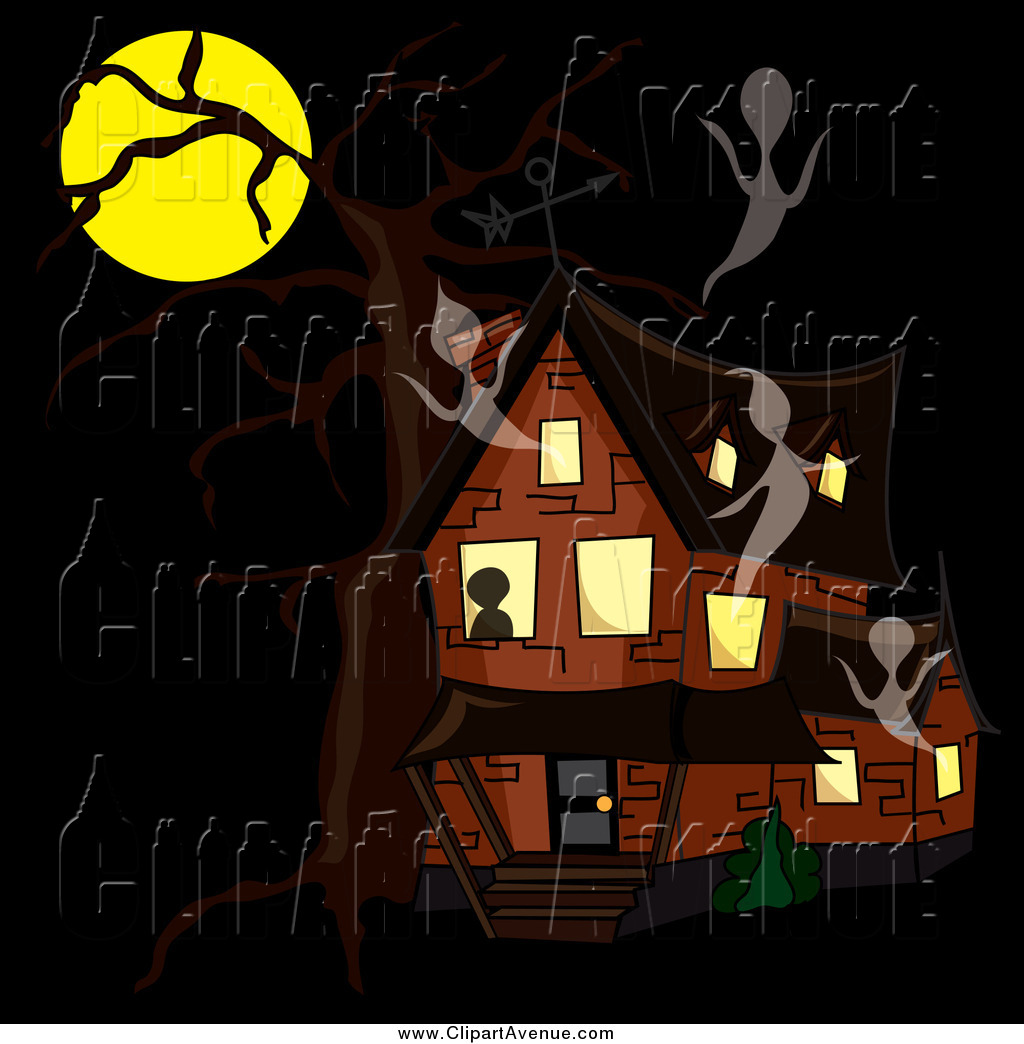 Haunted clipart moon #7