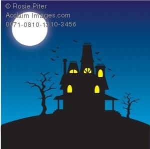 Haunted clipart moon #10