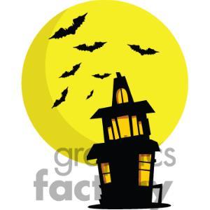 Haunted clipart moon #6